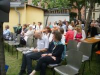 Literaturfest Wortwärts im Garten des KUNO
